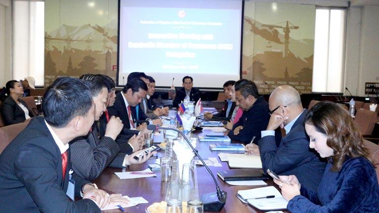 नेपाल र कम्बोडियाका निजी क्षेत्र बीच व्यापार एवं लगानी प्रबर्द्धन सम्बन्धी छलफल (२०७५/०८/१४)