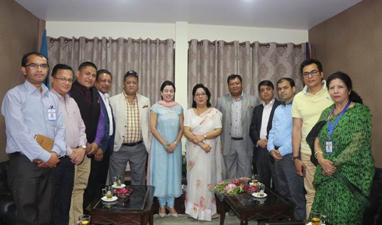 जापानका लागि नवनियुक्त नेपाली राजदुत समक्ष महासंघ सचिवालयमा भेटवार्ता (२०७४/०२/०१)