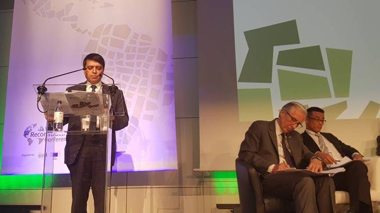 महासंघका उपाध्यक्ष ढकालद्वारा विश्व पुनरनिर्माण सम्मेलनलाई व्रसेल्समा संवोधन (२०७४/०२/२४)
