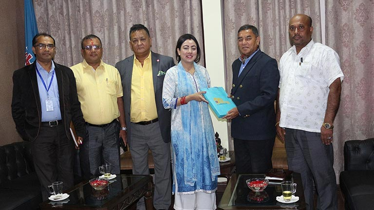 Meeting with H E  The Nepalese Ambassador to Spain | Photo