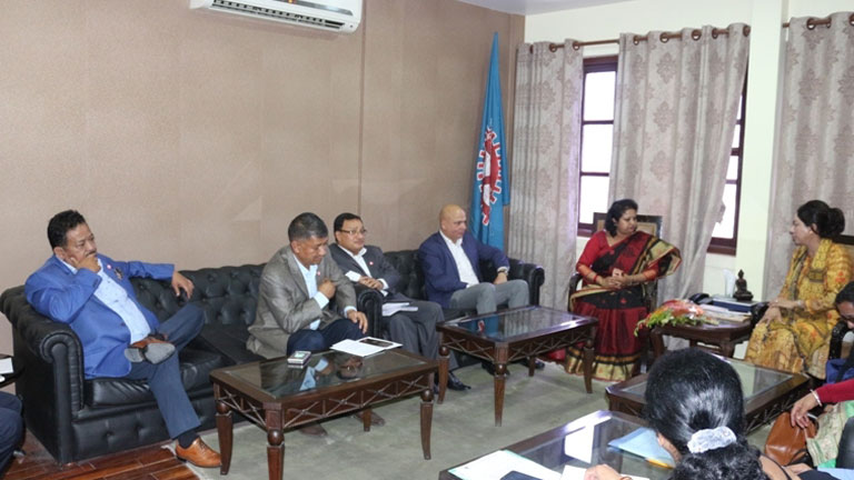 Meeting with Deputy Mayor of Kathmandu Metropolitan City