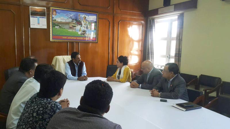 meeting with minister of supply