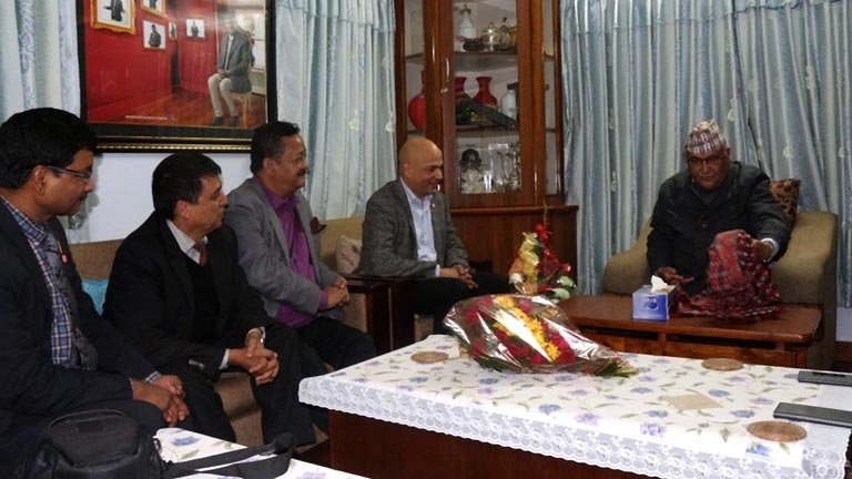 FNCCI Team meet Chairman of the CPN (UML) KP Sharma Oli