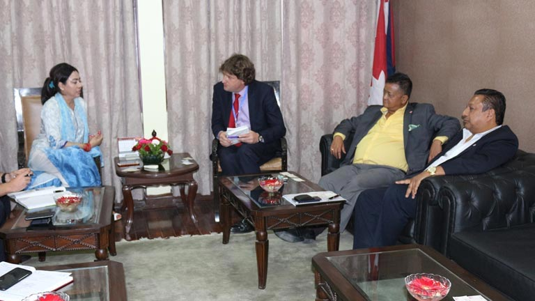 Meeting with Head, DFID Nepal