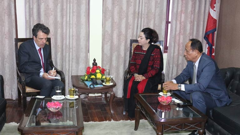 Meeting with H.E. Francois_Xavier LEGER, Ambassador of France to Nepal