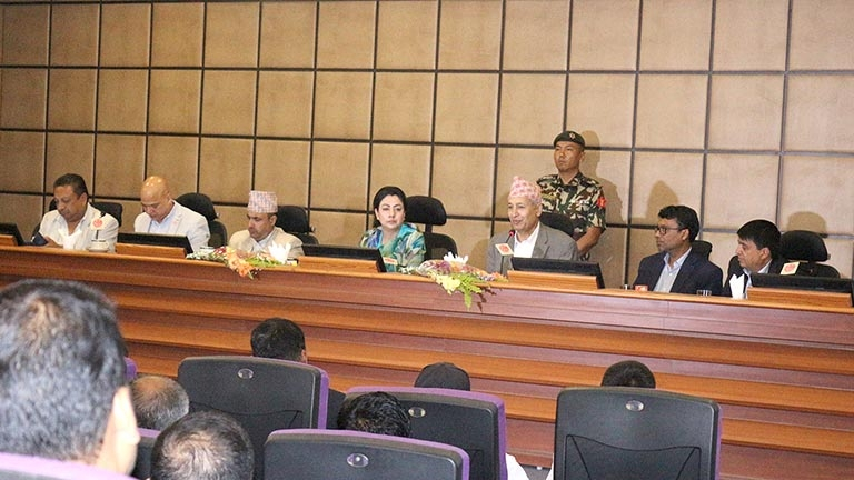 Interaction on Post Budget 2075/76 in the presence of Hon'ble Finance Minister