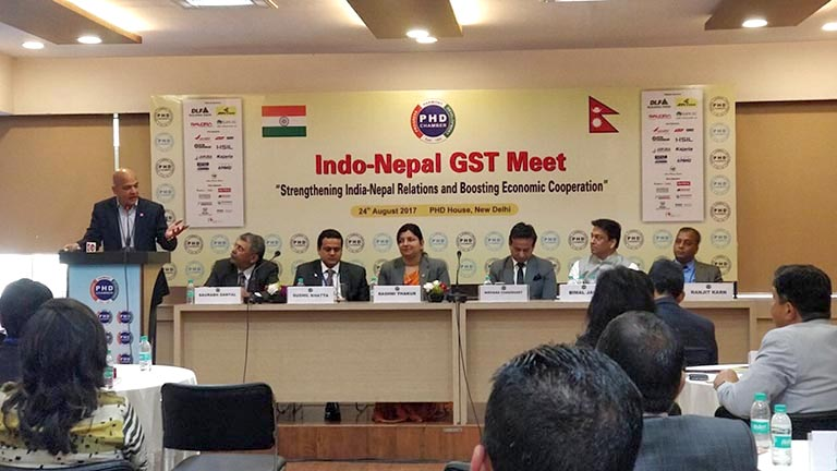 Meeting on Indo-Nepal GST Meet in India