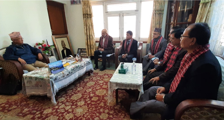 Meeting with Senior Leader of Communist Party of Nepal and Former Prime Minister Mr. Madhav Kumar Nepal,