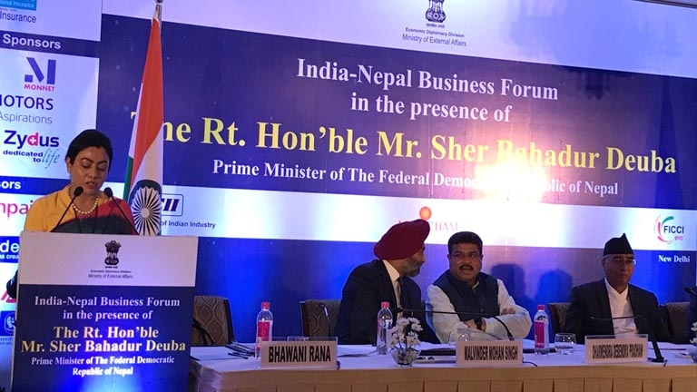 India-Nepal Business Forum in the Presence of Rt. Hon'ble Prime Minister of Nepal